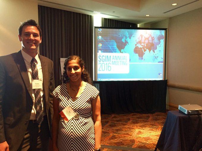 Nila Radhakrishnan and Tom Starnes at SGIM