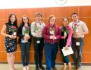 Heme Onc Team delivered roses to patients on 8E for Valentine's Day